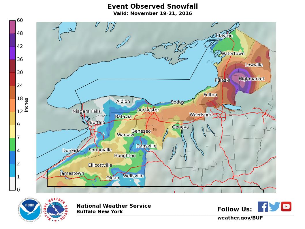 Lake Effect Snow Event Archive - Nws buffalo radar