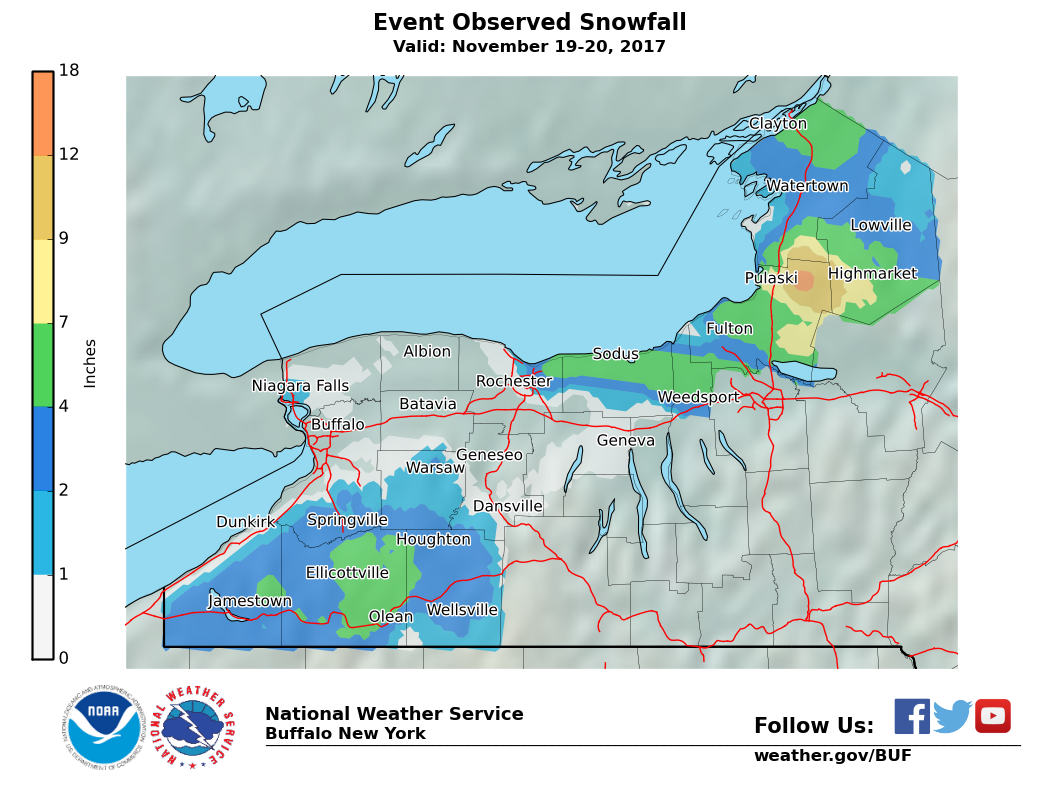 Lake Effect Snow Event Archive - Us-snow-belt-map