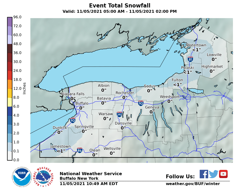 BUF Storm Total Snowfall Forecast