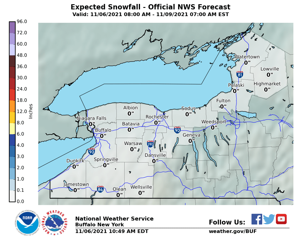 WNY SNOW FORECAST  In New Tab