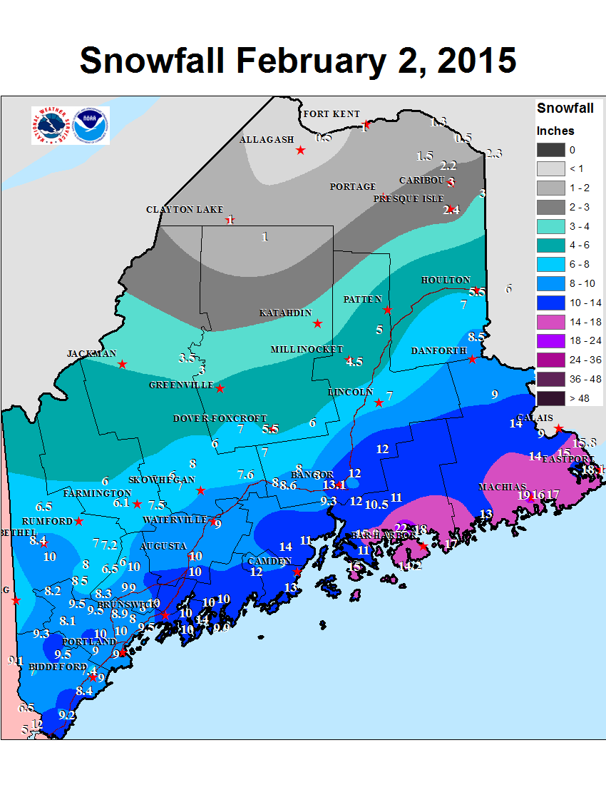 Record Setting Snowy 7 to 10 Days for Downeast Maine