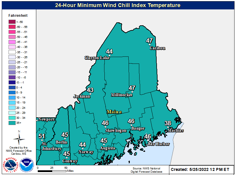 3-Day Minimum Wind Chill Temperature
