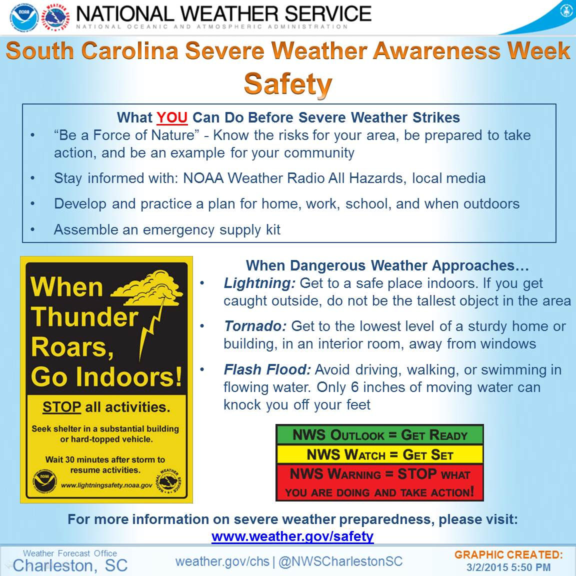 Severe Weather Safety : Sc severe weather awareness week