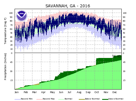 the thumbnail image of the Savannah Climate Data