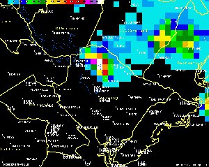KCLX Vertically Integrated Liquid at 1112 PM.