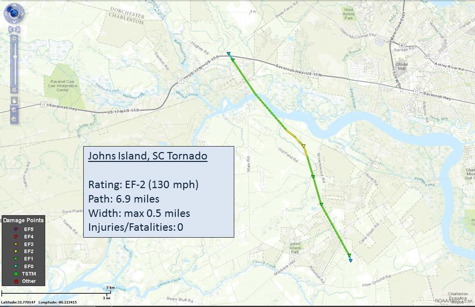 Johns Island South Carolina Tornado