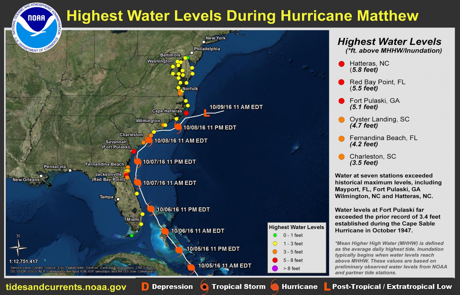Hurricane Matthew October - Us weather map october