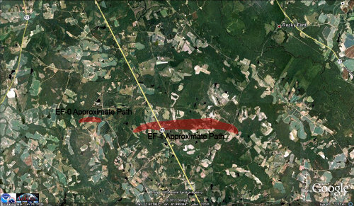 Portal GA tornado damage map.