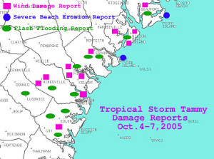 Damage reports across southeast GA from Tropical Storm Tammy