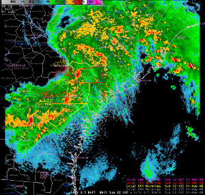 Charleston, SC radar imagery