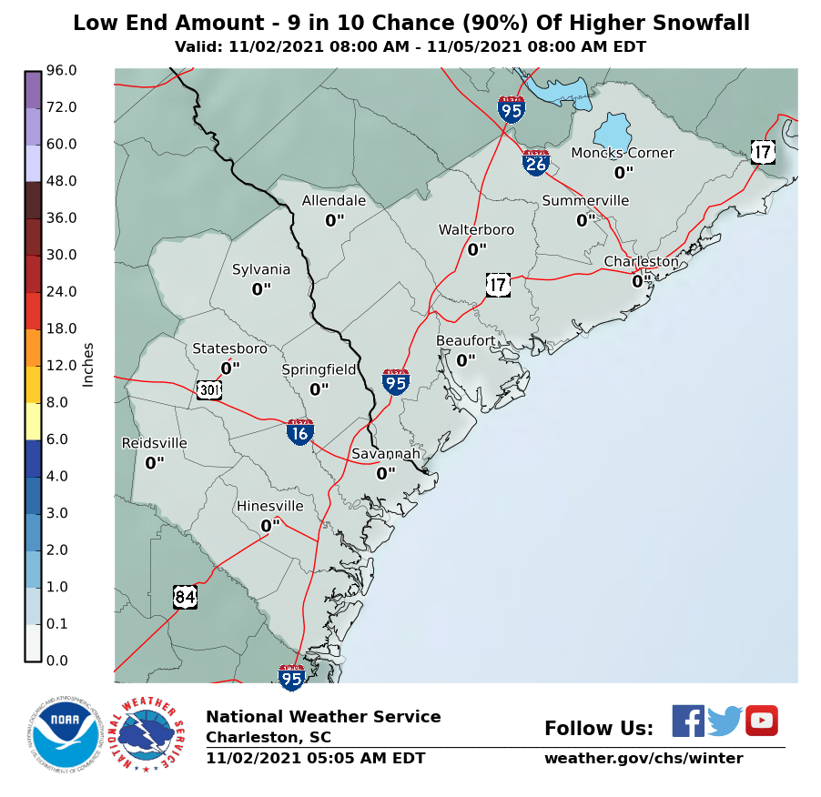 Minimum Potential Snow Accumulation