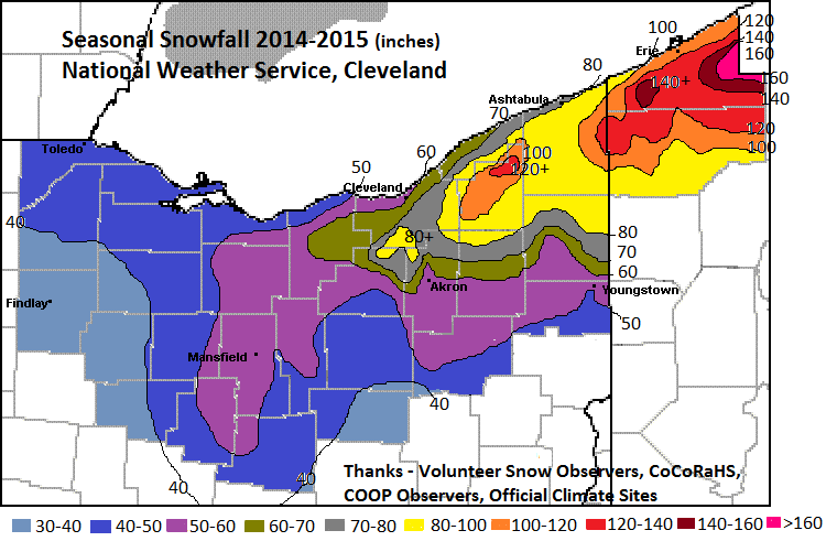 Winter Review Another Cold And Snowy Winter - Us annual snowfall map