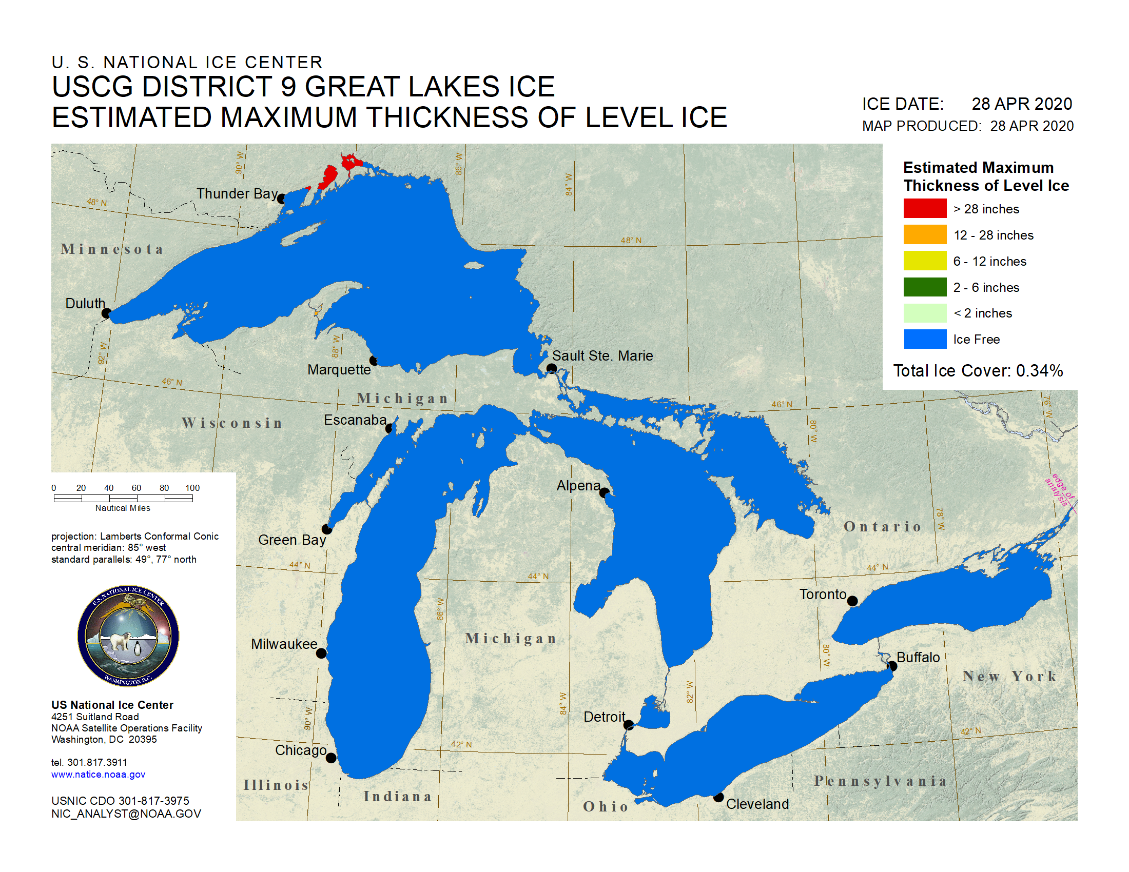 Great Lakes Ice Analysis - Great-lakes-on-the-us-map