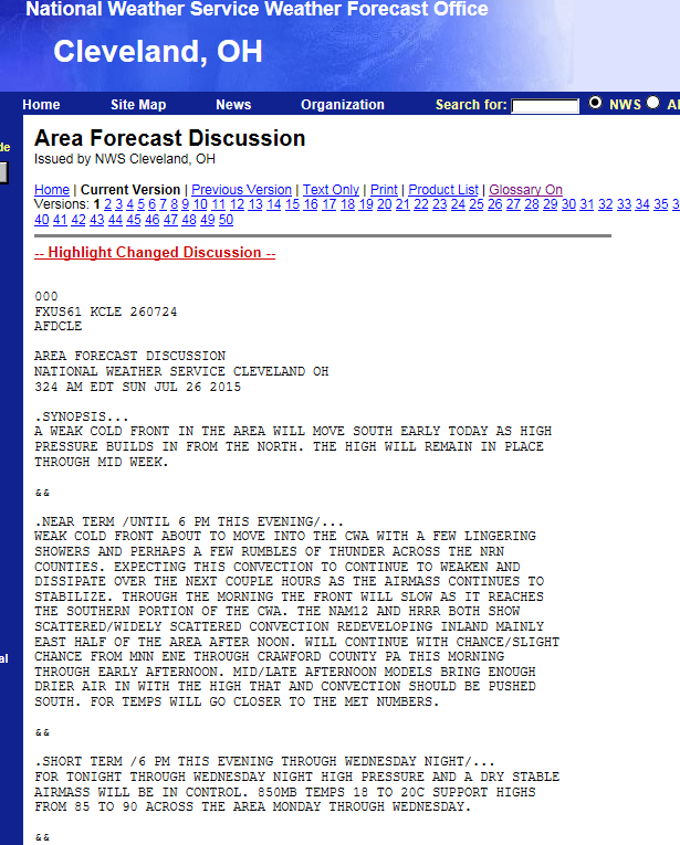 click for the Area Forecast Discussion
