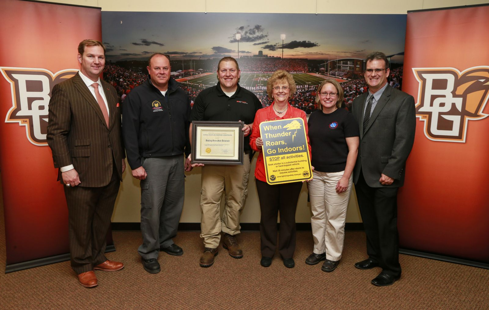 recognizing BGSU lightning safety plan