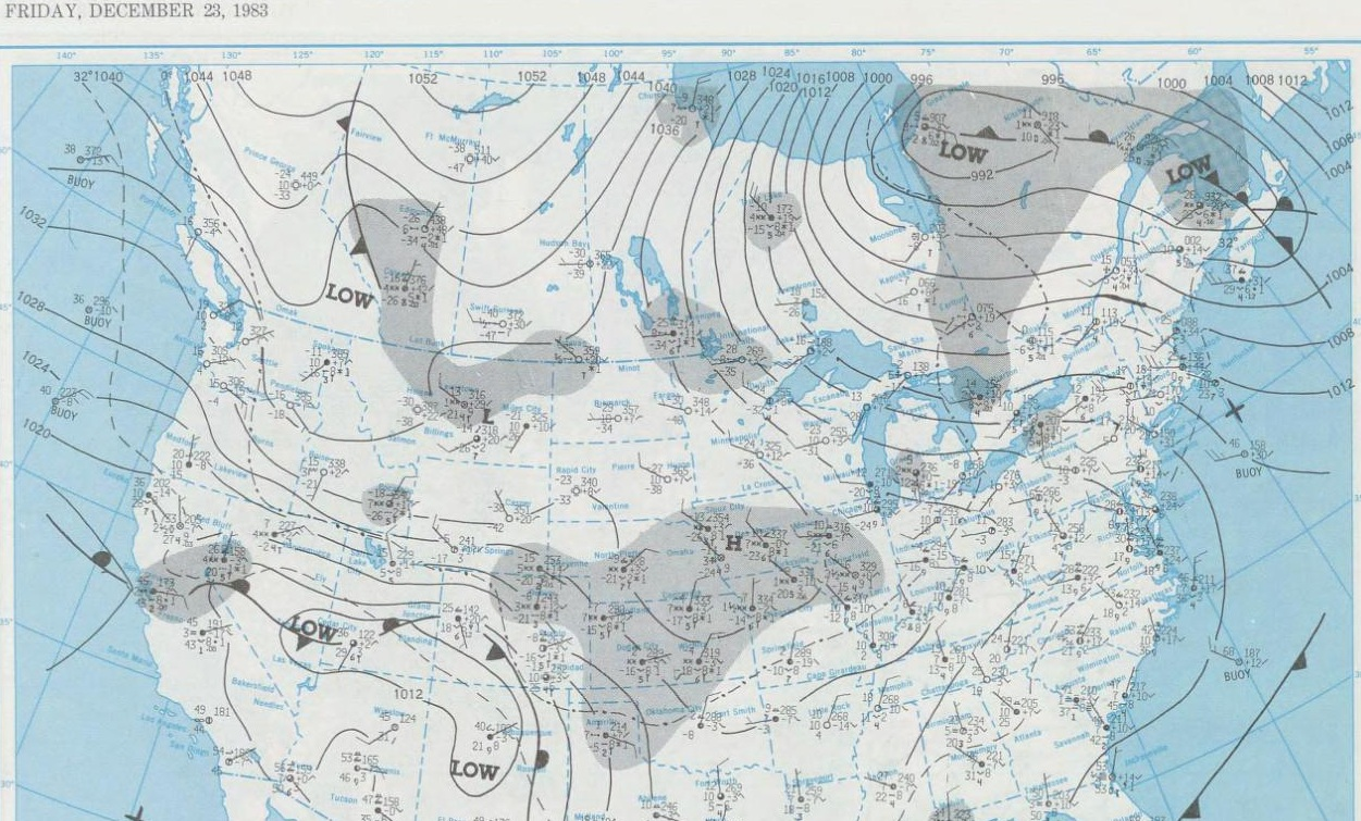 Dec. 23, 1983 Surface Map
