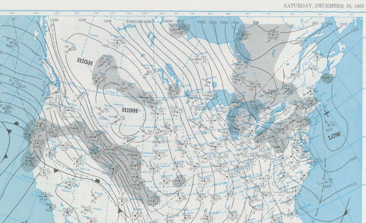 Dec. 24, 1983 Surface Map