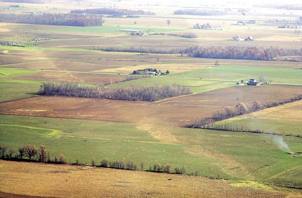 Seneca County Tornado Path Through Field
