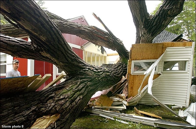 click for a photo gallery of pictures from the Erie microburst