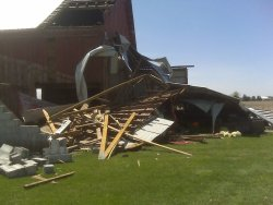 tornado damage to barn