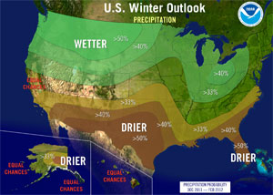 U S Winter Outlook Precipitation