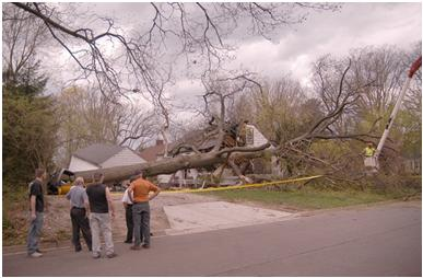 storm damage from Kent 4/27/11