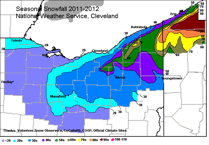 Seasonal Snowfall 2011-2012