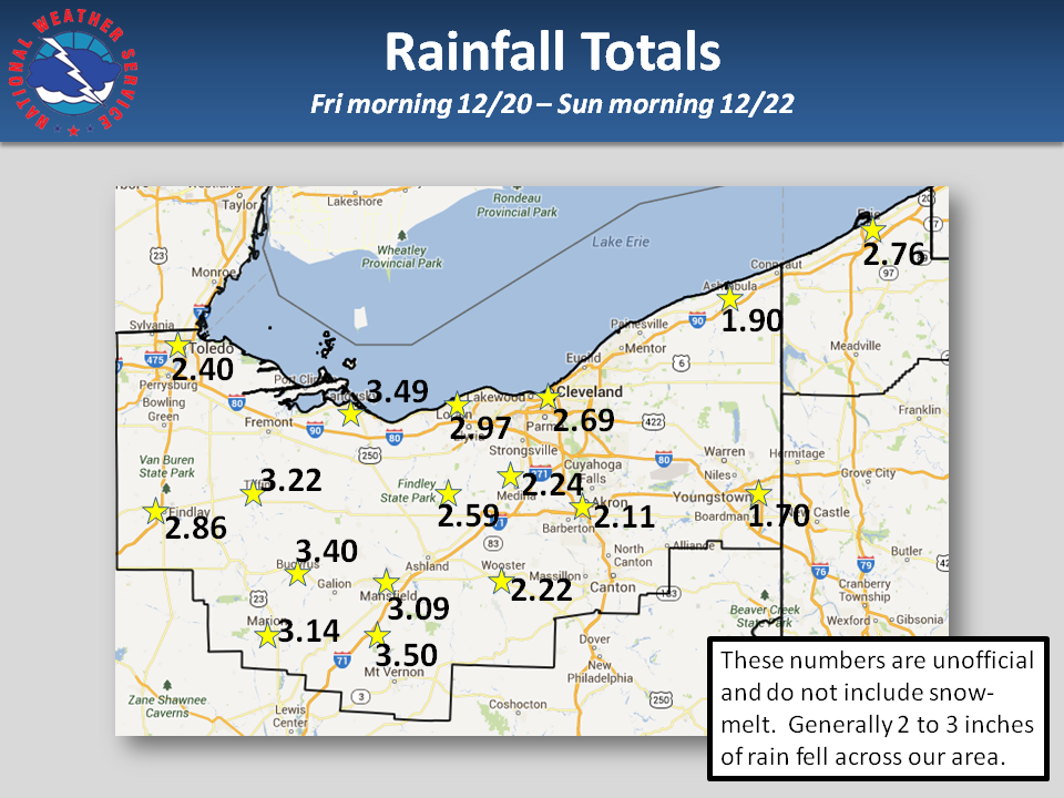 Rainfall from 12/20-12/22