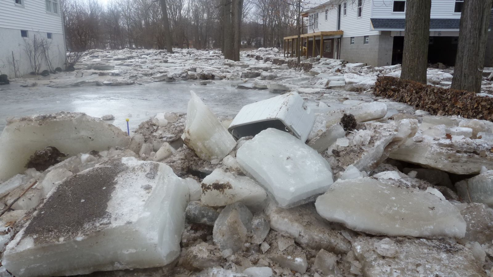 Vermilion River Ice from NWS ice jam flood survey