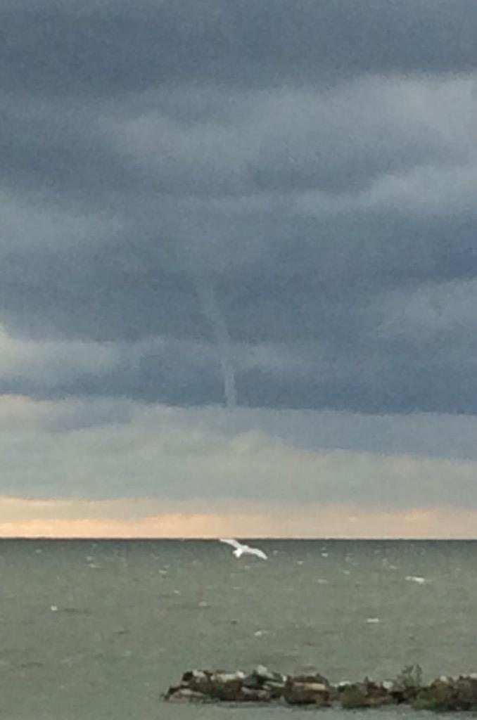 Waterspout sited near Lake View Park on Sept 12, 2015
