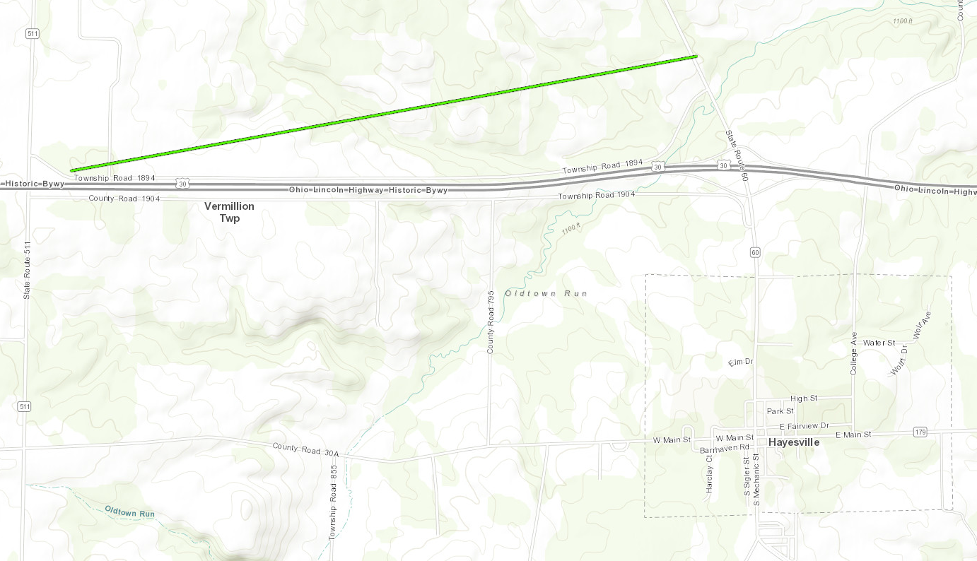Map of the Hayesville Tornado Track as Described by the Above Public Information Statement
