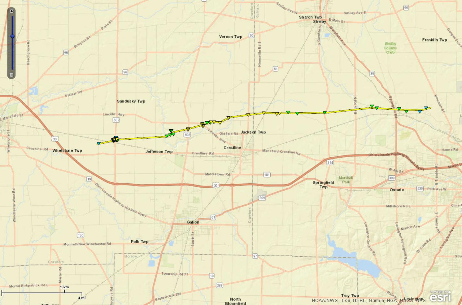 EF2 Tornado Confirmed from Crawford into Richland County on ... on map of warren ohio, crawford county, map of united states ohio, map of jeromesville ohio, map of ashland ohio area, map of cincinnati ohio, hancock county, allen county, map of clear creek township ohio, adams county, map of mifflin township ohio, holmes county, map of chippewa ohio, map of parma ohio, map of broadview heights ohio, map of lebanon ohio, richland county, map of milton township ohio, franklin county, map of canton ohio, clark county, map of beloit ohio, cuyahoga county, map of perry township ohio, knox county, map of orange township ohio, lorain county, wayne county, lake county, medina county, map of ashtabula ohio, erie county, map of west chester ohio, map of cuyahoga river ohio, delaware county, fairfield county, marion county, map of madison ohio,