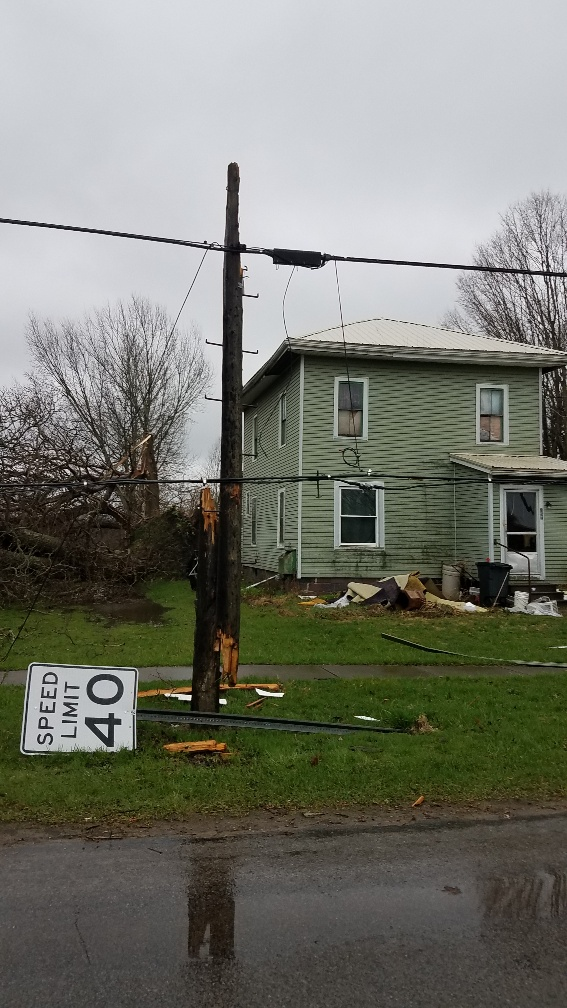 Springboro tornado damage April 14, 2019