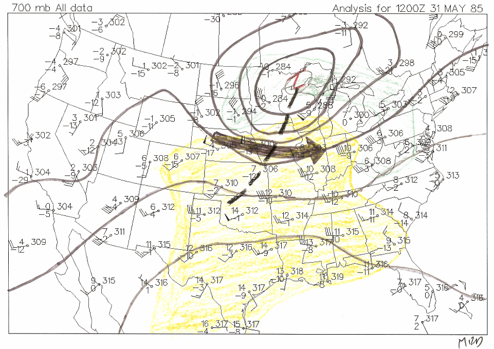 700mb chart from 12z 31 May 1985 - Figure 2