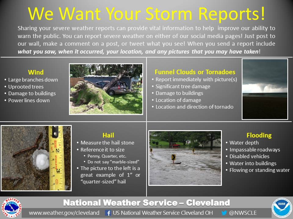 what to include in a severe weather report