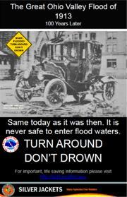 "The Great Ohio Valley Flood of 1913 ""Turn Around Don't Drown"" Poster"