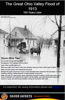 Great Ohio Valley Flood of 1913 Storm Tips Poster