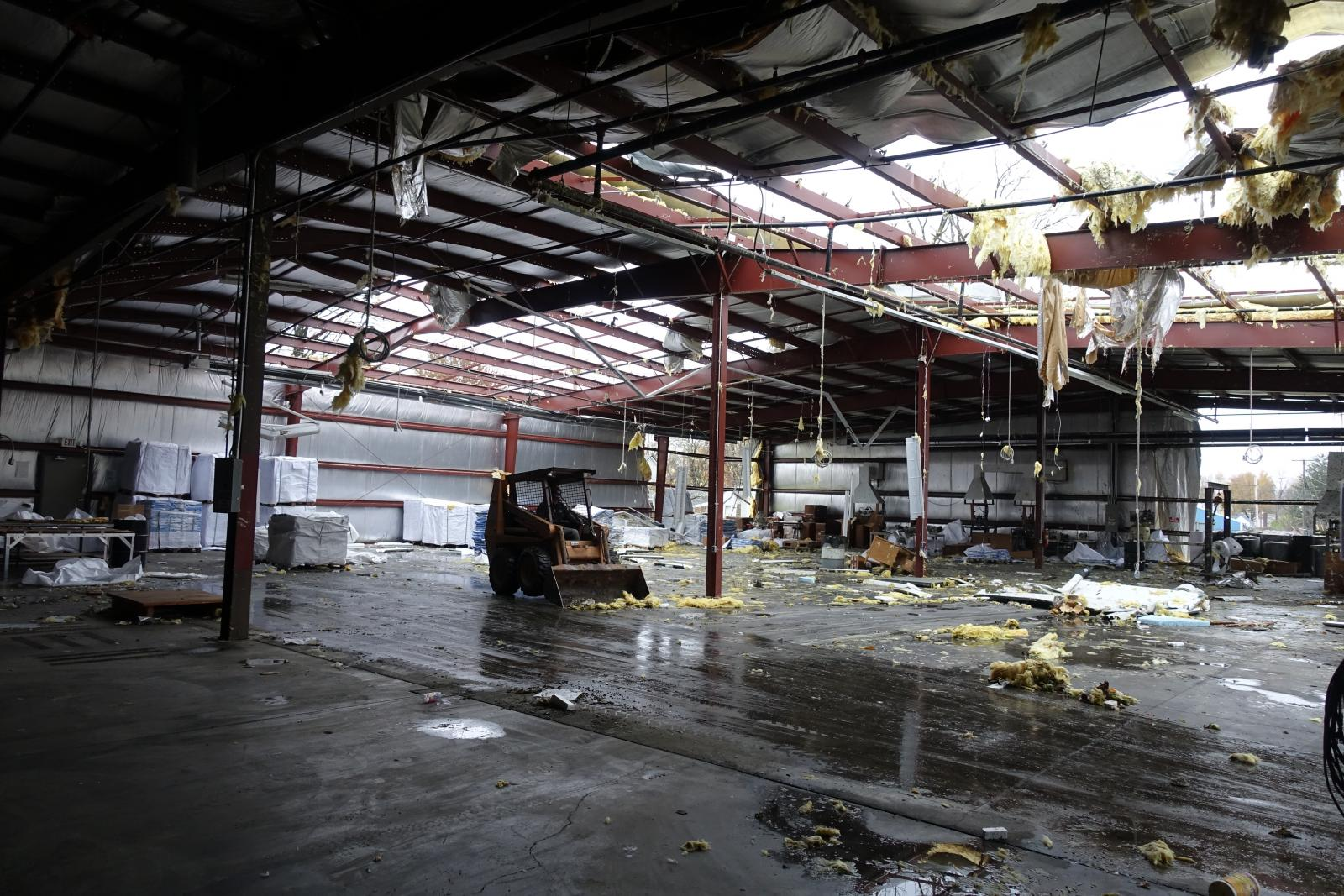 Warehouse damage from Galion Tornado