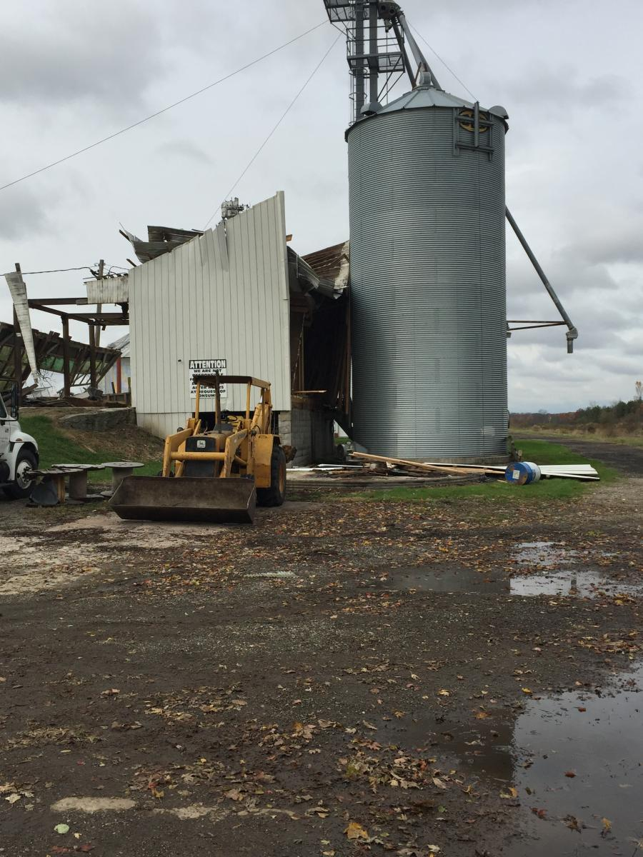 Damage to Silo from Nova Tornado, November 5 2017