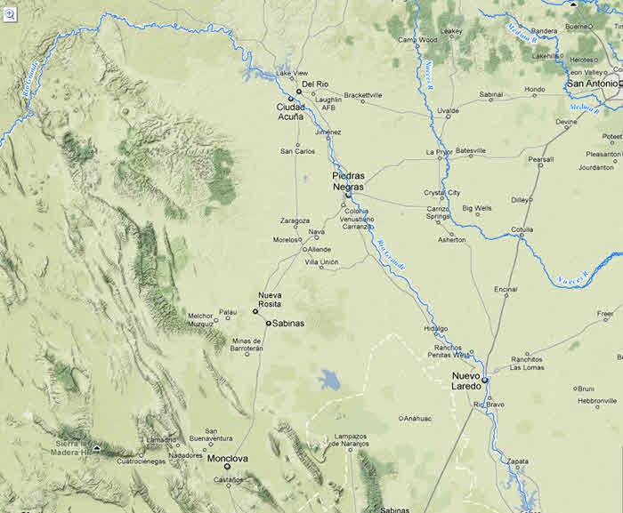 Record Flooding Along The Rio Grande From Hurricane Alex July - Rio grande river world map
