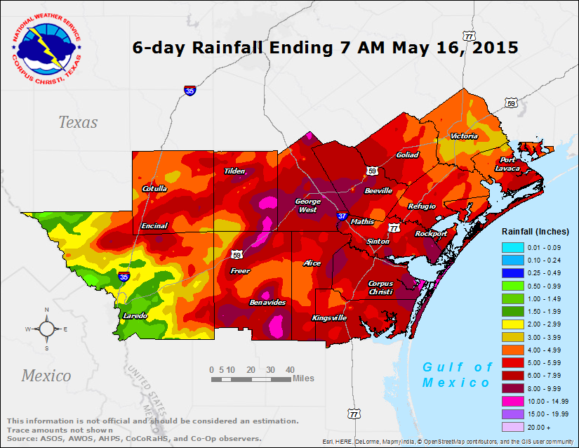 6-day Rainfall