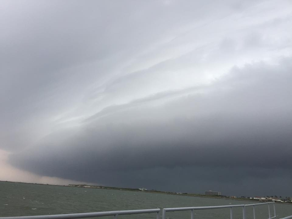 Shelf Cloud Over Corpus Christi Bay