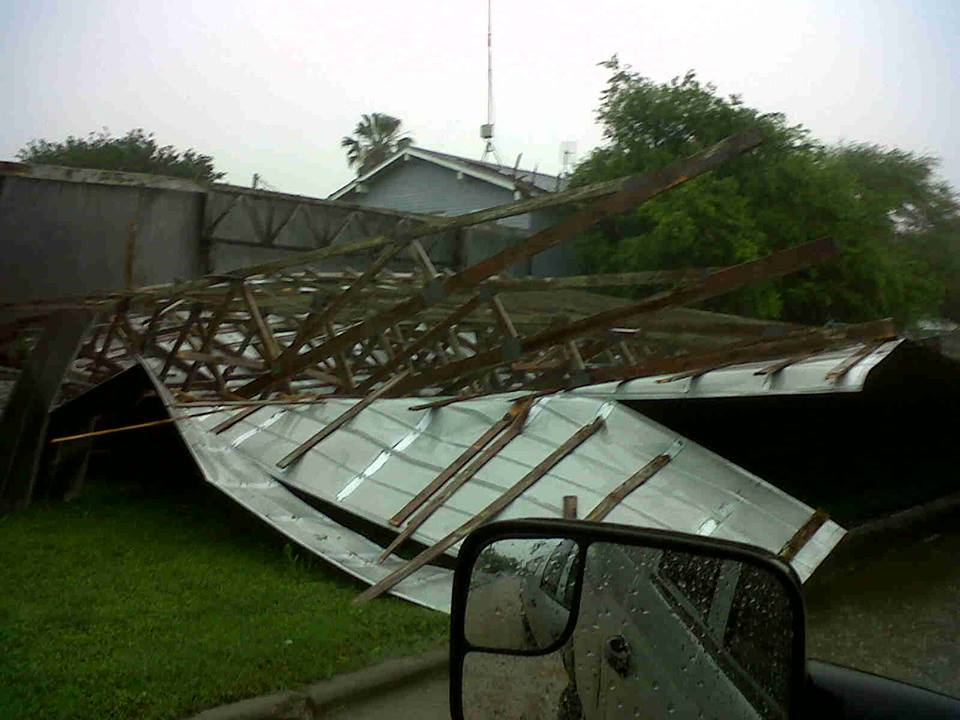 Damage on South Side of Corpus Christi