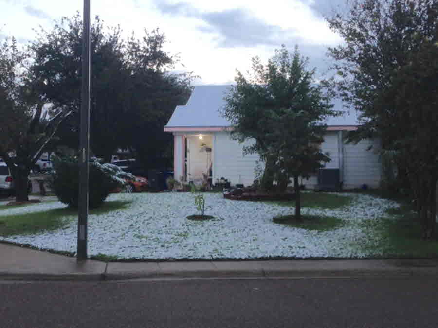 Laredo: Snow Accumulating at Home - Credit Oscar Maldonado