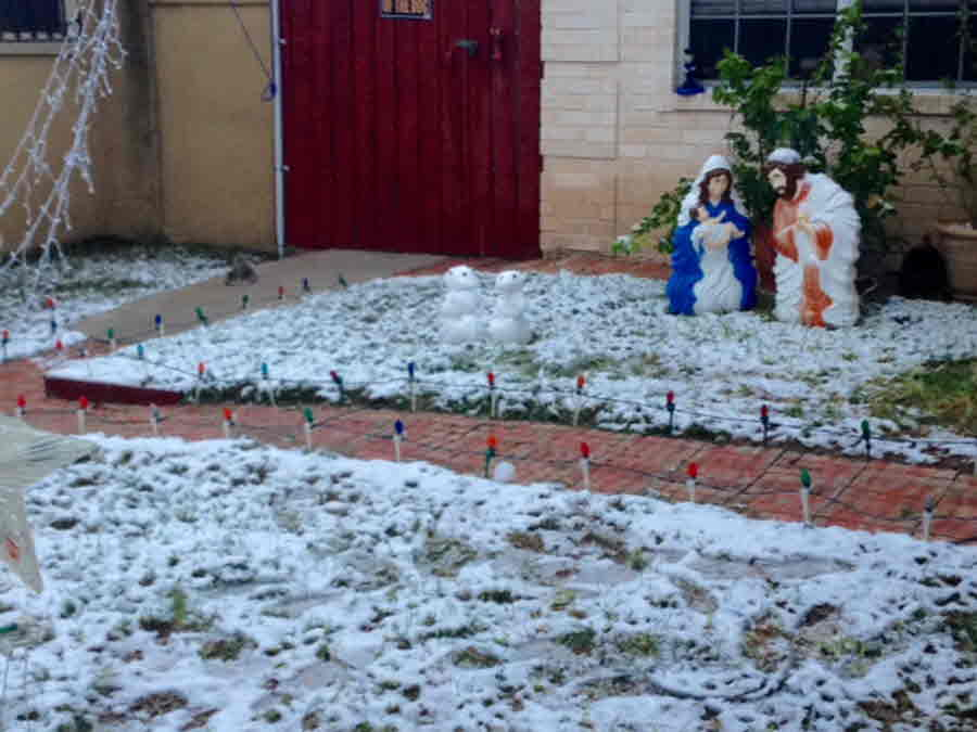 Laredo: Snow With Snowmen - Credit Oscar Maldonado