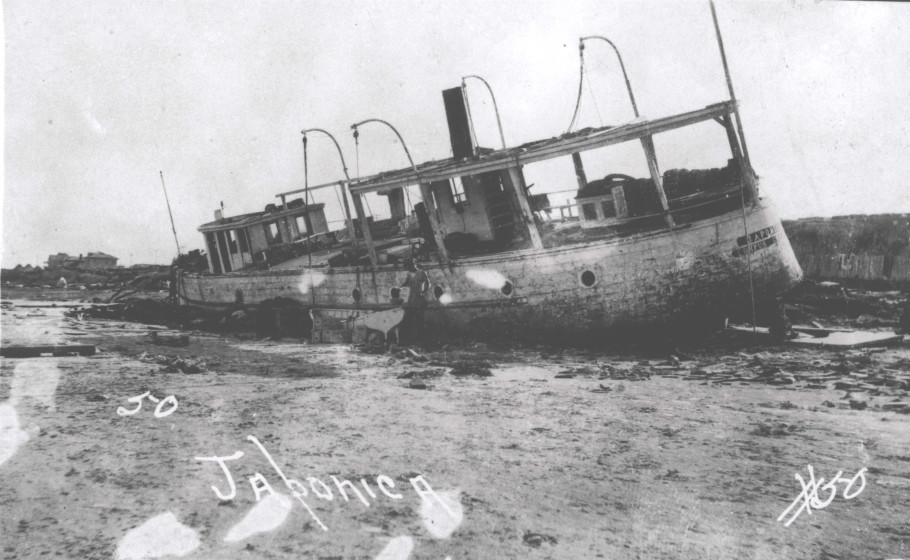 Damage to a tour boat named 'Japonica'.