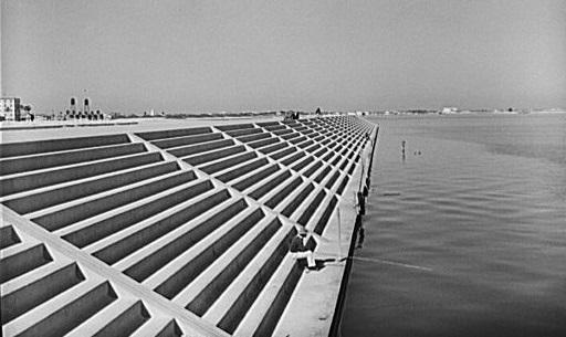 Corpus Christi Seawall in 1940.