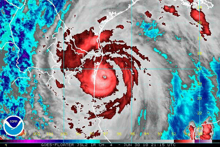 Hurricane Alex satellite