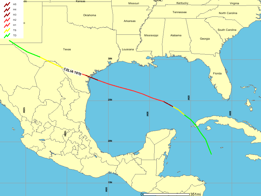 the intensification was brief as winds decreased to 90 mph during the morning of august 2nd see map below