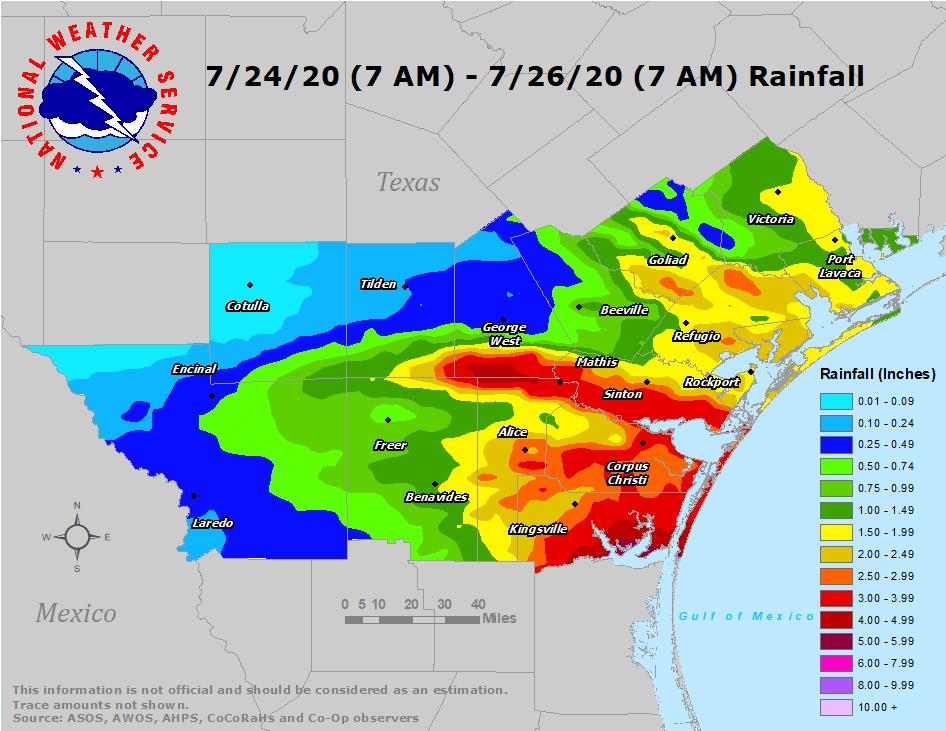 48-hour Observed Rainfall